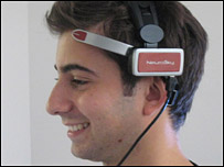 Ricky wearing the NeuroSky headset