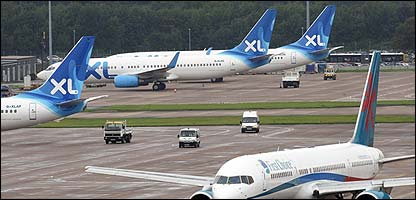 XL planes at Manchester Airport
