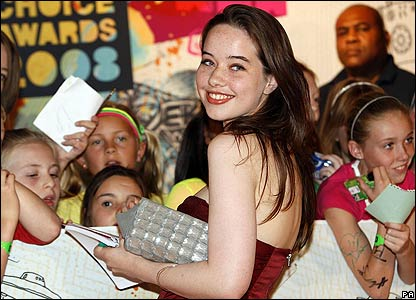 Outside the awards ceremony loads of fans turned up - here's Anna signing some autographs.