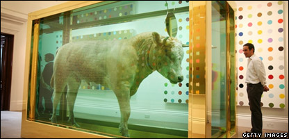 Damien Hirst's The Golden Calf