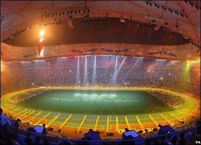 view of the Closing Ceremony at the National Stadium (Photo: Julien Behal/PA Wire