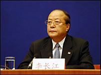 中国国家质量监督检验检疫总局局长李长江(新华社图片17/9/2008)