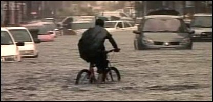 Bicycle in the floods