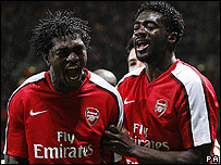 Emmanuel Adeboyer and Emmanuel Eboue
