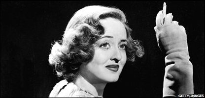 Picture taken in the 40s of US film actress Bette Davis (