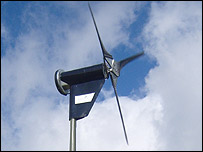 The wind turbine at Shannon's school