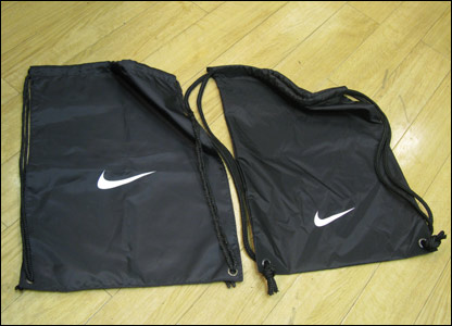 Fake and real Nike bags