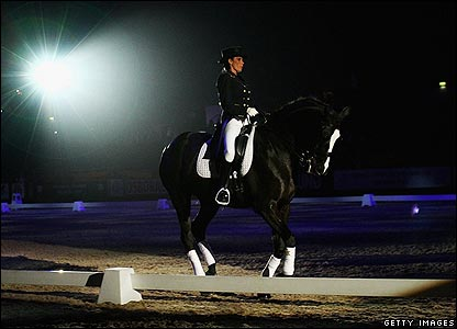 The reality TV star has been riding since the age of seven. She dazzled the crowds when she gave a dressage demonstration wearing a traditional outfit with a touch of sparkle.