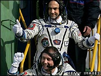 Richard Garriott with astronauts