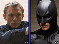 Daniel Craig as James Bond and Christian Bale as Batman