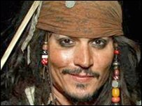 Johnny Depp as Captain Jack (AP Photo/Disney, Eric Charbonneau)