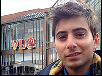 Ricky outside the Vue cinema in Norwich