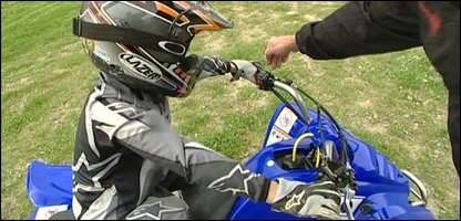 Young person during a quad bike training session