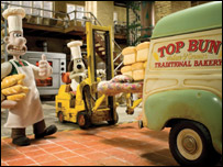 Wallace and Gromit in a still from A Matter of Loaf and Death
