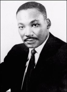 Civil rights leader Dr. Martin Luther King