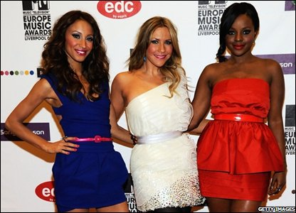 Sugababes Amelle Berrabah, Heidi Range and Keisha Buchanan (Photo by Frank Micelotta/Getty Images)