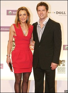 Michael Owen and wife Louise Bonsall (Photo by: Peter Byrne/PA Wire)