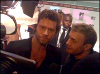 Take That's Howard Donald and Gary Barlow at the MTV Europe Music Awards