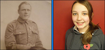 Press Packer Stephanie and her Great-Great-Uncle Thomas Keelty