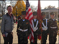 Adam with some Young Marines in Washington