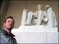 Adam and President Abe Lincoln