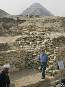 The site of a newly-discovered pyramid in Egypt