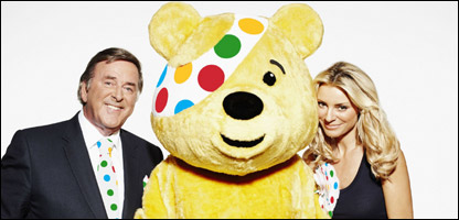 Terry Wogan and Tess Daley with Pudsey Bear