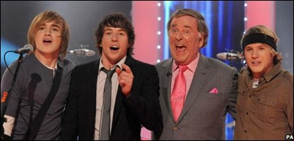 McFly and Terry Wogan (Photo: Ian West/BBC Children in Need/PA Wire