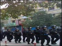 陇南街头武警(博讯网站图片)