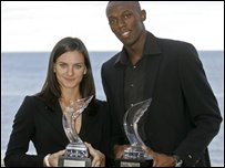 Usain Bolt and Yelena Isinbayeva