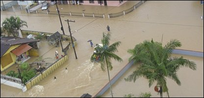 Brazil floods AP Photo/Santa Catarina's government)