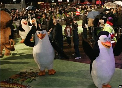 Penguins on the red carpet