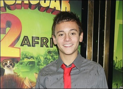 Tom Daley on the red carpet