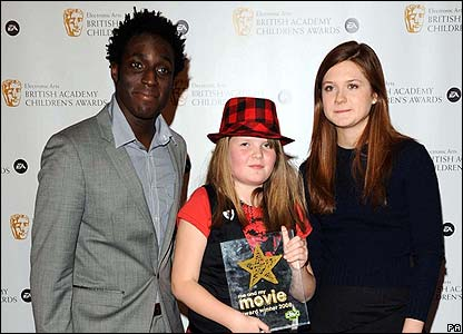 Andy Alkinwolere, Leah Cooper and Bonnie Wright