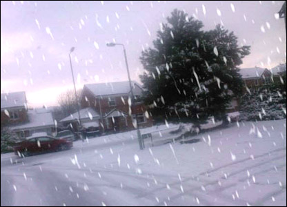 Meg's photo of the snow in Bolton