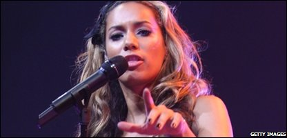 Leona Lewis, who's new single is the fastest downloaded ever