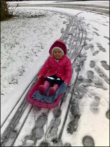 Morgan sledging in Sheffield