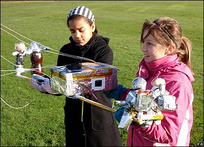Children take part in a science experiment