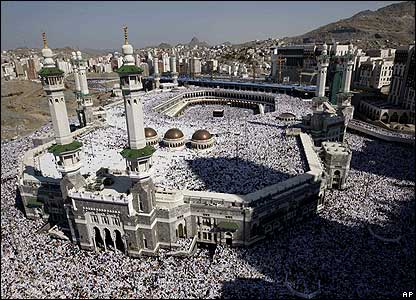 Muslims at Mecca in Saudi Arabia
