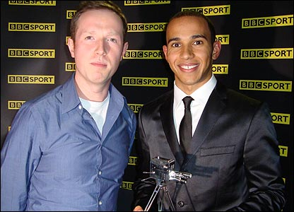 Newsround's Adam and Lewis Hamilton