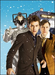 David Tennant, David Morrissey and a cyberman
