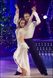 Strictly Come Dancing finalist Rachel Stevens and her dance partner Vincent Simone