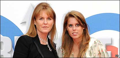 The Duchess of York and Princess Beatrice