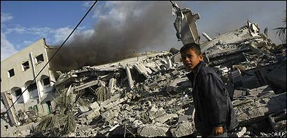 A boy in Gaza