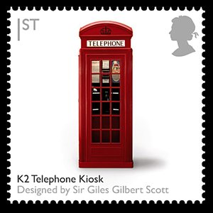 Telephone box stamp