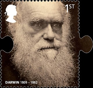 Charles Darwin on stamp