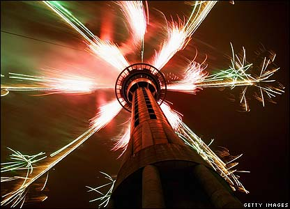 Auckland in New Zealand was one of the first places to celebrate the beginning of 2009.