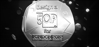 Promotional image of coin for London 2012 competition