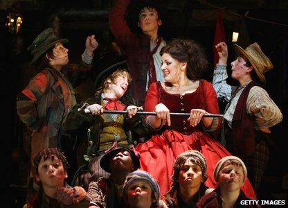 Jodie Prenger as Nancy with some of the other actors in Oliver