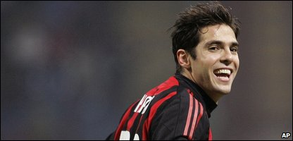 Kaka playing for AC Milan